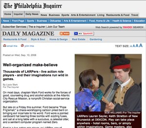 <em>Philadelphia Inquirer</em>, September 10, 2008