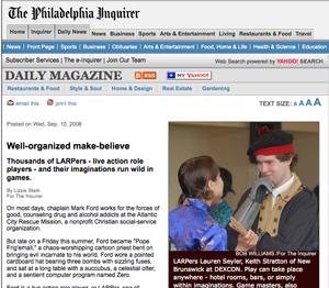 <em>Philadelphia Inquirer</em>, September 10, 2008