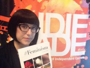 "Actual play photo from Kira Magrann's ""Selfie,"" one of the games demoed from the #Feminism collection."